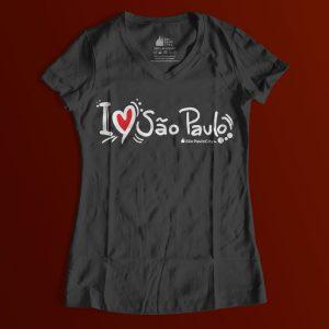 """133505 1 300x300 - Baby Look Feminina Gola """"V"""" I Love SP Desenho"""