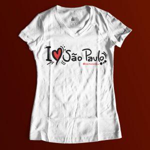 """133505 3 300x300 - Baby Look Feminina Gola """"V"""" I Love SP Desenho"""
