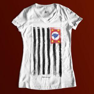 "1B0D8E 3 300x300 - Baby Look Feminina Gola ""V"" Bandeira SP Ilustrada"