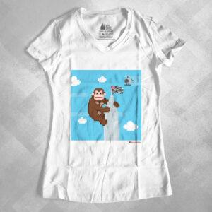 "42EA1F 2 300x300 - Baby Look Feminina Gola ""V"" King Kong Banespa by Miguel Garcia"