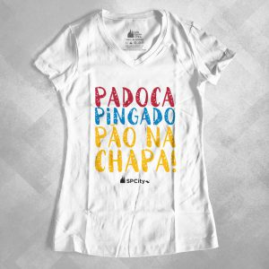 "42EA78 2 300x300 - Baby Look Feminina Gola ""V"" Padoca, Pingado e Pão na Chapa"