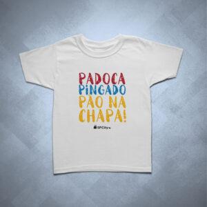 42EC87 1 300x300 - Camiseta Infantil Padoca, Pingado e Pão na Chapa