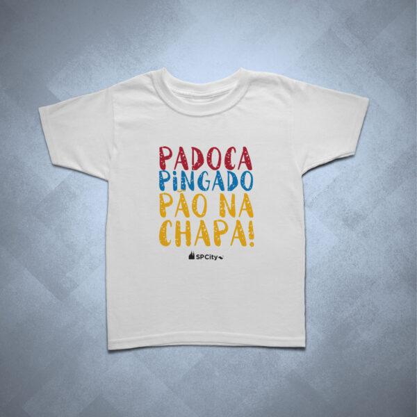 42EC87 1 600x600 - Camiseta Infantil Padoca, Pingado e Pão na Chapa