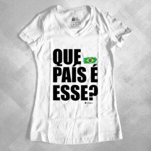 """631E00 1 300x300 - Baby Look Feminina Gola """"V"""" Que País é Esse?"""