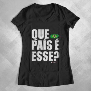 """631E00 2 300x300 - Baby Look Feminina Gola """"V"""" Que País é Esse?"""