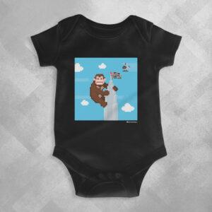 AA32 Preta 1 300x300 - Body Infantil King Kong Banespa by Miguel Garcia