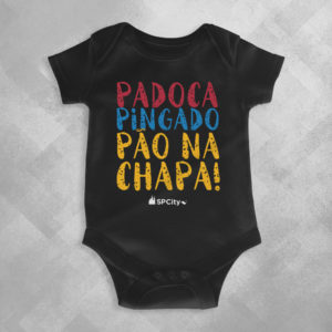 OG82 Preta 300x300 - Body Infantil Padoca