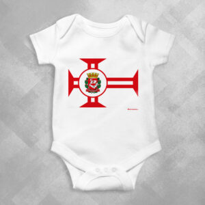TE66 Branca 1 300x300 - Body Infantil Bandeira Cidade de São Paulo