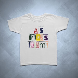 camiseta infantil as ruas falam