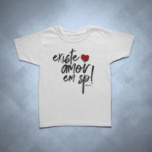 camiseta infantil existe amor em sp