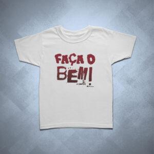 camiseta infantil faca o bem