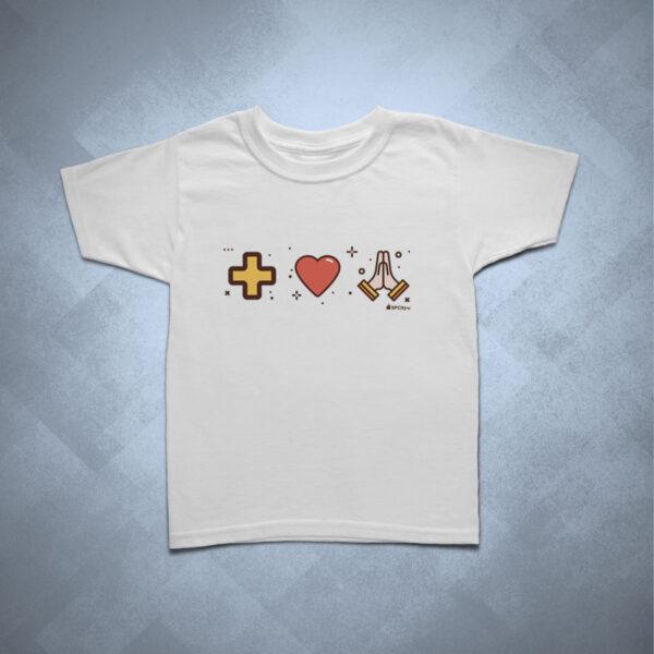 camiseta infantil mais amor por favor