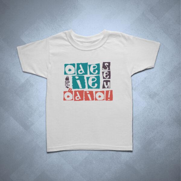 camiseta infantil odeie seu ódio